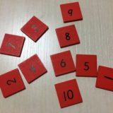 赤い棒の数字カードの画像